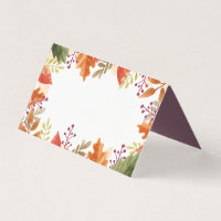 Autumn Bounty | Thanksgiving Place Card