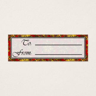 Autumn Bouquet Redux Lg Any Color Gift Tag