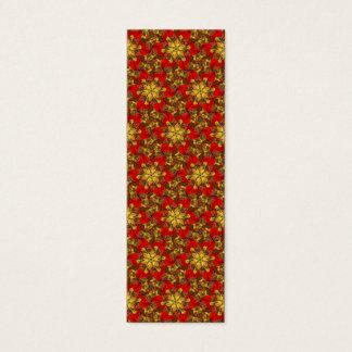 Autumn Bouquet Redux Sm Any Color Bookmark Mini Business Card