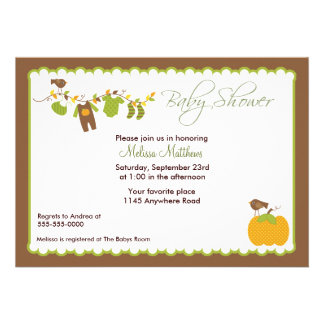 Autumn Boys Baby Shower Invitation