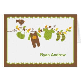 Autumn Boys Baby Shower Thank You Card