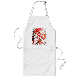 Autumn Branch Abstract Long Apron