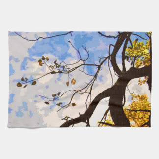 Autumn Branches Abstract Kitchen Towel