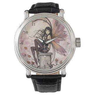 Autumn Breezes Fairy Fantasy Art Wrist Watch