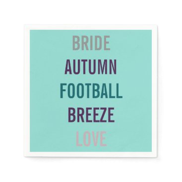 McTiffany Tiffany Aqua Autumn Bride Love Fall Tiffany Teal Blue Napkins