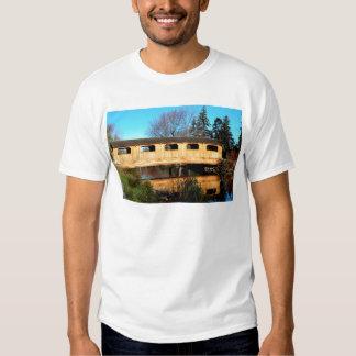 Autumn Bridge Reflection T Shirt