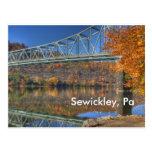 autumn bridge, Sewickley, Pa Postcard