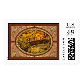 Autumn - Bridge - The hidden bridge Stamp