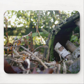 Autumn Broken Birdhouse Mouse Pad