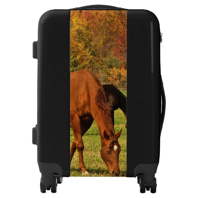 Autumn Brown Horses Luggage