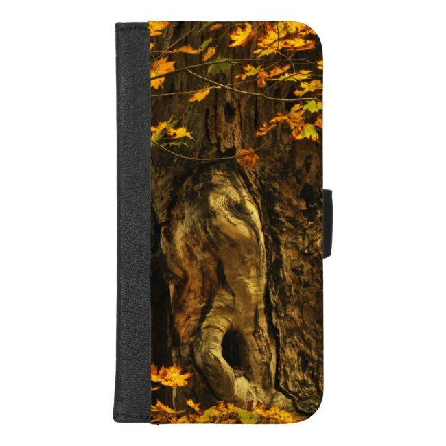 Autumn Brown Tree iPhone 8/7 Plus Wallet Case