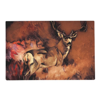 Autumn Buck Placemat One or Set o