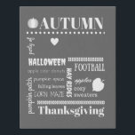 """Autumn Bucket List Canvas<br><div class=""""desc"""">Pumpkin spice and hayrides perfect represent this season! Be sure to customize the canvas best represent your family traditions. ADD TEXT Party of {# of people in your family} Add your last name, mom &amp; dad, kids and pets &amp; other activities you enjoy Display this canvas as a reminder of...</div>"""