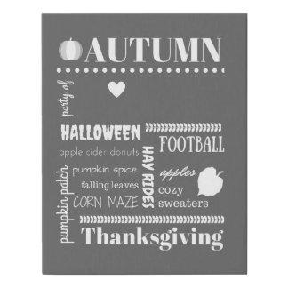 Autumn Bucket List Canvas