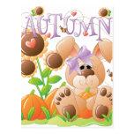Autumn Bunny 1 Postcards