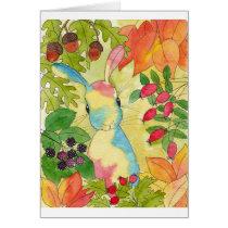 Autumn Bunny by Peppermint Art