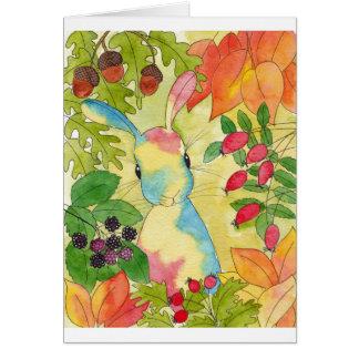 Autumn Bunny by Peppermint Art Card