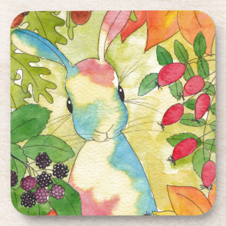 Autumn Bunny by Peppermint Art Drink Coaster