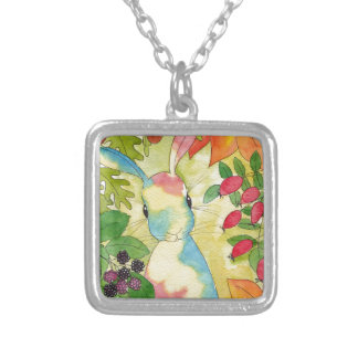 Autumn Bunny by Peppermint Art Silver Plated Necklace