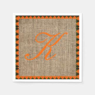 Autumn Burlap Paper Napkins