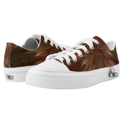 Autumn Burst Fractal Low-Top Sneakers