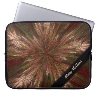Autumn Burst Fractal Personal Laptop Sleeve