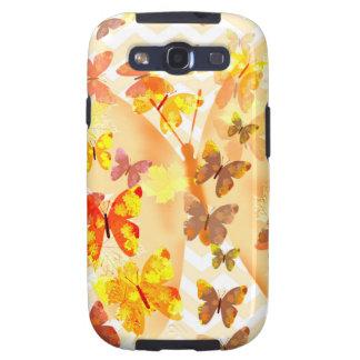 Autumn butterflies yellow brown flying butterflies galaxy s3 covers