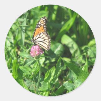 Autumn Butterfly Round Sticker