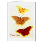 Autumn Butterfly Trio Thank You Card