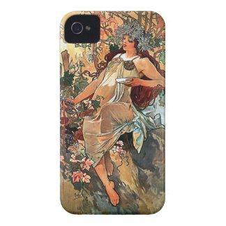 Autumn by Alfons Mucha 1896 Case-Mate iPhone 4 Case