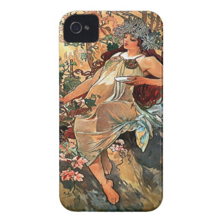 Autumn by Alfons Mucha 1896 iPhone 4 Cover