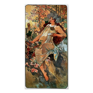 Autumn by Alfons Mucha 1896 Print