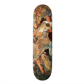 Autumn by Alfons Mucha 1896 Skateboard Deck