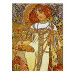 """""""Autumn"""" by Alphonse [Alfons]  Mucha Post Cards"""