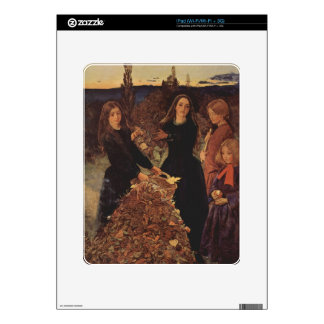Autumn by John Everett Millais Decals For The iPad