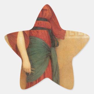 Autumn by John William Godward Star Sticker