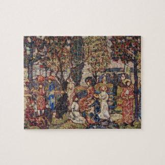 Autumn by Maurice Prendergast, Vintage Fine Art Jigsaw Puzzle