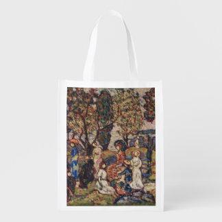 Autumn by Maurice Prendergast, Vintage Fine Art Reusable Grocery Bag
