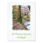 AUTUMN BY THE LAKE 13 CM X 18 CM INVITATION CARD