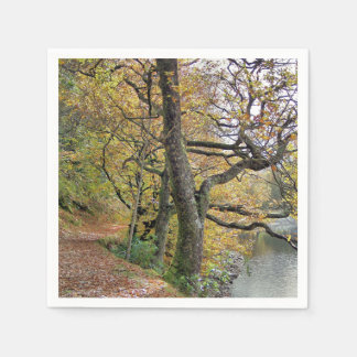 AUTUMN BY THE LAKE PAPER NAPKIN