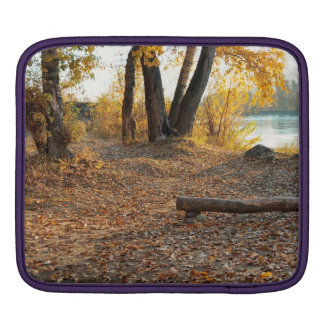 Autumn by the River iPad Sleeves