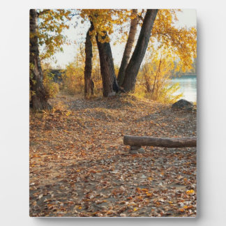 Autumn by the River Plaque