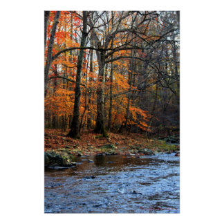 Autumn By the Stream Print #154