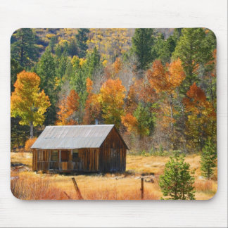 Autumn Cabin Mouse Pad