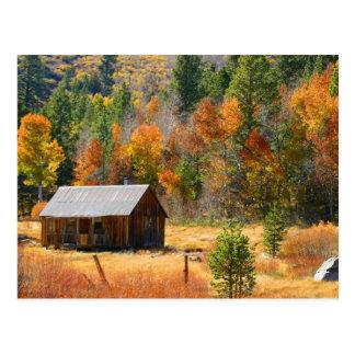 Autumn Cabin Postcard