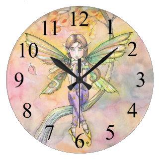 Autumn Calling Cute Fairy Wall Clock