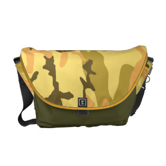 Autumn Camouflage pattern Messenger Bag