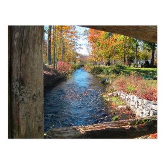 Autumn Canal calendar ~ postcard