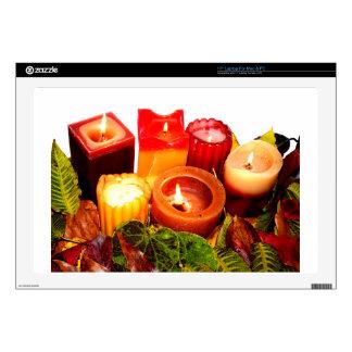 "Autumn Candle and Leaf Arrangement Skins For 17"" Laptops"