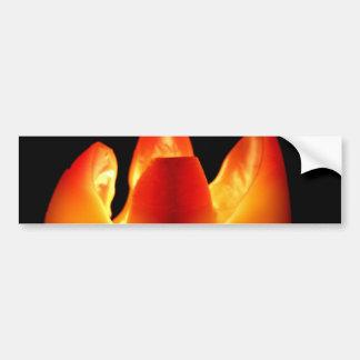 Autumn Candle Glow Bumper Sticker